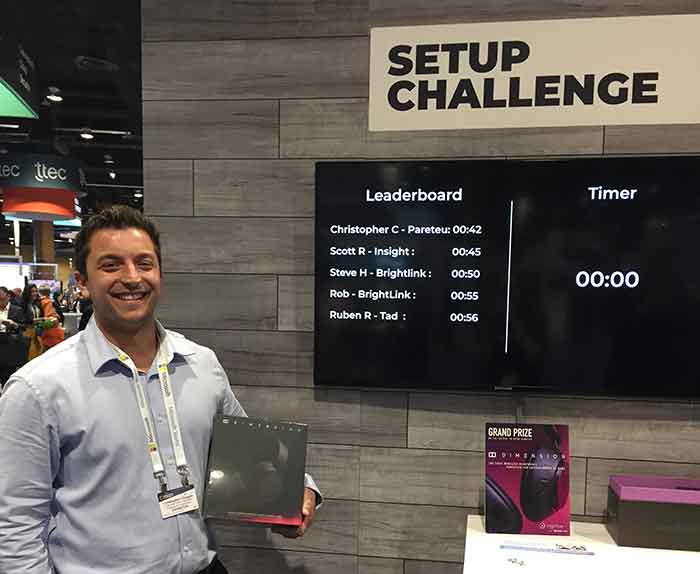 The winner, Christopher C., did it in just 42 seconds, beating the previous record of 1:10 held by Rashad of The Reynolds Company